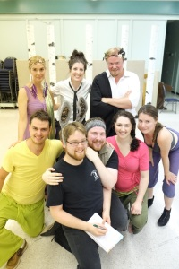 The cast and director of Bottome's Dreame.