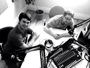 Chris and Charlie are interviewed for Mom, I'm A Thespian on CFCR Saskatoon.