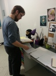 Director Charlie Peters at a Costume Design meeting.