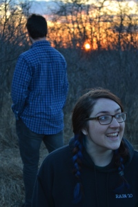 Woods Sunset Excited